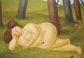 Reclining Woman By Fernando Botero