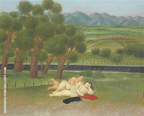 Colombian Landscape Painting By Fernando Botero - Reproduction Gallery