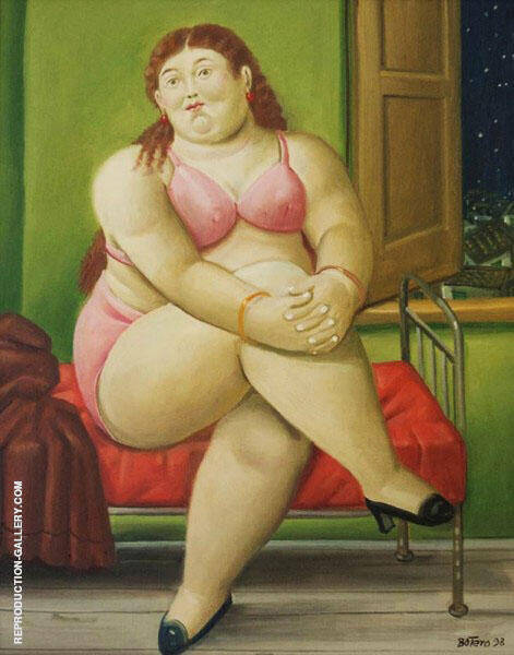 The Bedroom 2 Painting By Fernando Botero - Reproduction Gallery