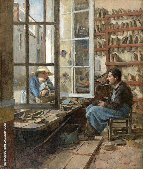 A Cobbler of Old Paris 1885 By Theodore Robinson