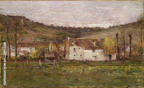 A French Hamlet 1892 By Theodore Robinson