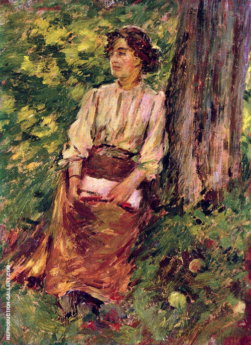 A Girl Redaing By Theodore Robinson