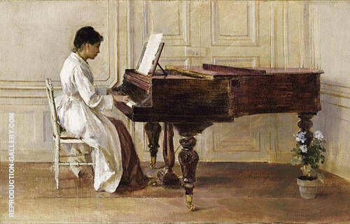 At The Piano 1887 By Theodore Robinson