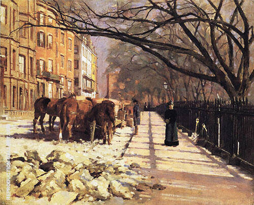 Beacon Street Boston 1884 By Theodore Robinson
