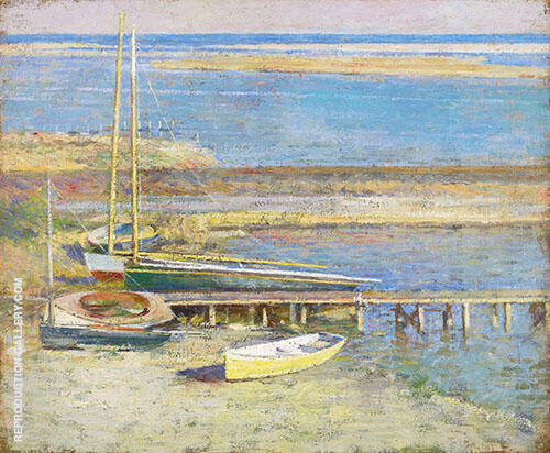 Boat at a Landing 1894 By Theodore Robinson