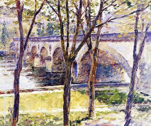 Bridge Near Giverny 1892 By Theodore Robinson