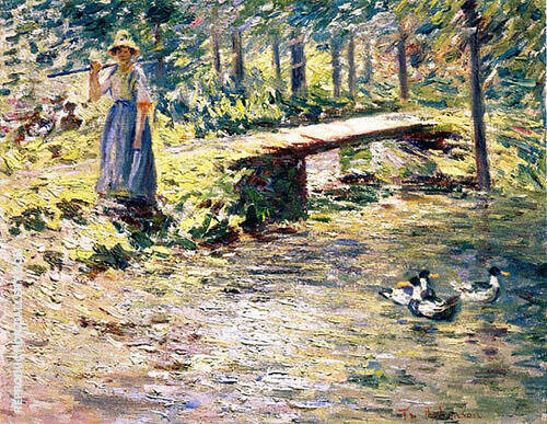 By The Brook 1891 By Theodore Robinson