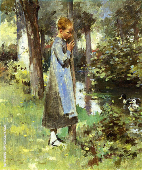 By The River 1887 By Theodore Robinson