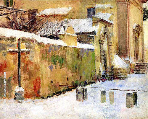 Church in Snow 1891 By Theodore Robinson