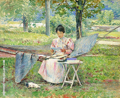 Correspondence 1895 Painting By Theodore Robinson - Reproduction Gallery