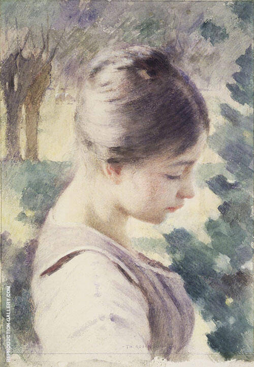 Decorative Head 1889 By Theodore Robinson