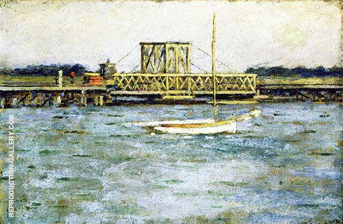 Drawbridge Long Branch 1894 By Theodore Robinson
