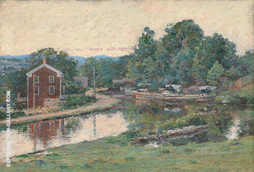 Evening at The Lock 1893 By Theodore Robinson