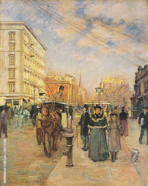 Fifth Avenue at Madison Square By Theodore Robinson