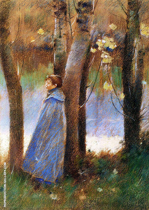 Figure in a Landscape 1887 By Theodore Robinson