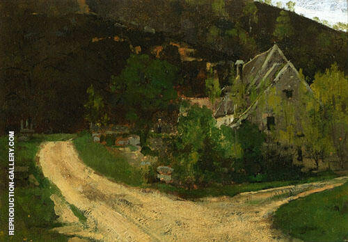 French Village By Theodore Robinson