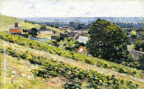 From The Hill Giverny c1889 By Theodore Robinson