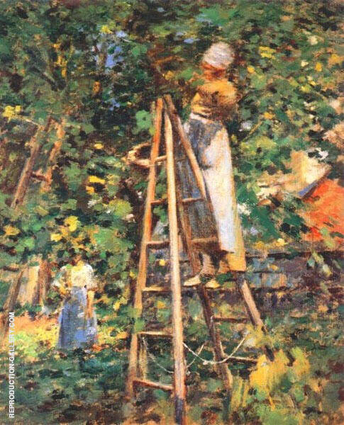 Gathering Plums 1891 Painting By Theodore Robinson - Reproduction Gallery