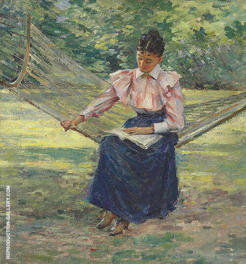 Girl in Hammock 1894 By Theodore Robinson