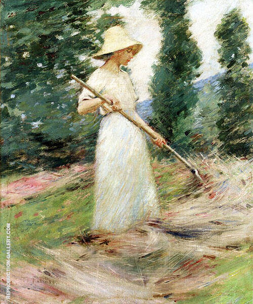 Girl Raking Hay c1890 By Theodore Robinson
