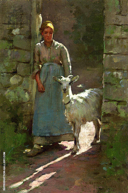 Girl with Goat 1886 By Theodore Robinson