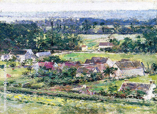 Giverny 2 c1889 Painting By Theodore Robinson - Reproduction Gallery