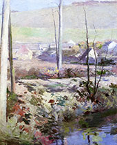 Giverny from The River Epte c1890 By Theodore Robinson