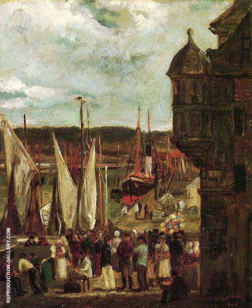 Harbor Scene c1876 By Theodore Robinson