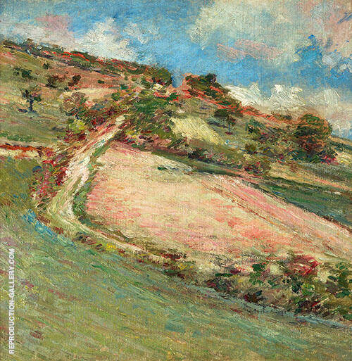 Hillside in Giverny France 1891 Painting By Theodore Robinson