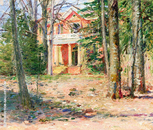 House in Virginia 1893 By Theodore Robinson