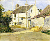 House with Scaffolding 1892 By Theodore Robinson
