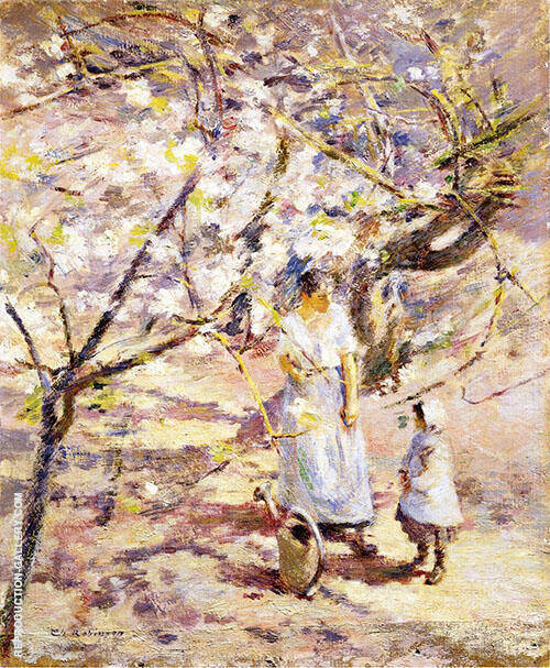 In The Orchard 1891 Painting By Theodore Robinson - Reproduction Gallery