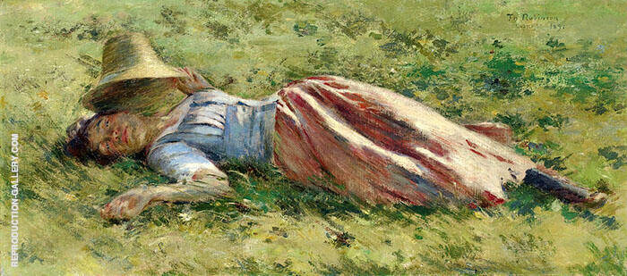 In The Sun Painting By Theodore Robinson - Reproduction Gallery