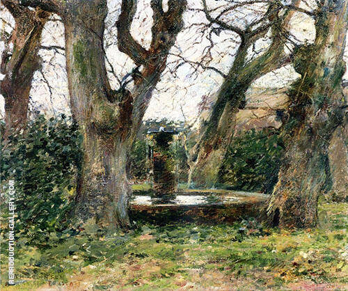 Italian Landscape with a Fountain 1891 By Theodore Robinson