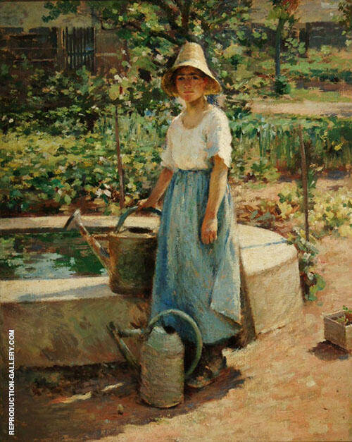 Josephine in The Garden 1890 By Theodore Robinson