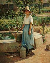 Josephine in The Garden 1890 By Theodore Robinson