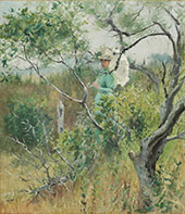 Lady with a Parasol By Theodore Robinson