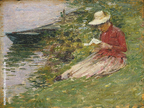 La Roche Guyon 1891 Painting By Theodore Robinson - Reproduction Gallery