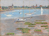 Low Tide Riverside Yacht Club 1894 By Theodore Robinson