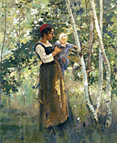Mother and Child By Theodore Robinson