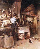 The Apprentice Blacksmith 1886 By Theodore Robinson