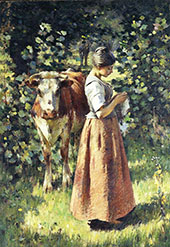The Cowherd 1888 By Theodore Robinson