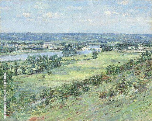 The Valley of The Seine from The Hills of Giverny 1892 Painting By ...