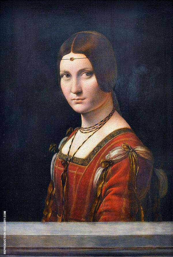 Lady from The Court of Milan 1490 By Leonardo da Vinci