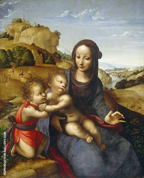 Madonna and Child with The lnfant Saint John 1505 By Leonardo da Vinci