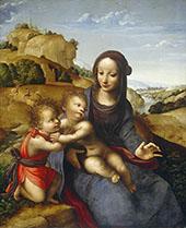 Madonna and Child with The lnfant Saint John 1505 By Leonardo da Vinci