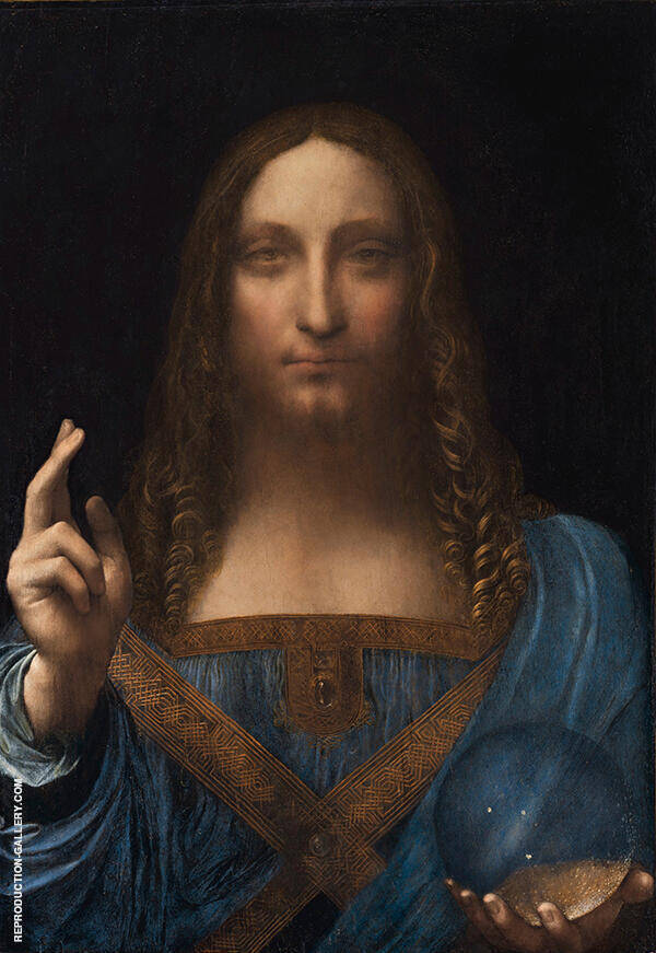 Salvator Mundi 1490 by Leonardo da Vinci | Oil Painting Reproduction Replica On Canvas - Reproduction Gallery