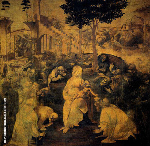 The Adoration of The Magi 1481 By Leonardo da Vinci