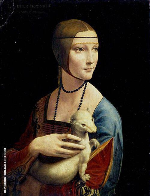 The Lady with an Ermine 1490 By Leonardo da Vinci
