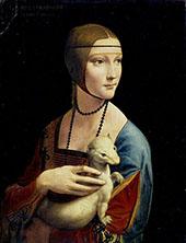 Lady with an Ermine 1490 By Leonardo da Vinci